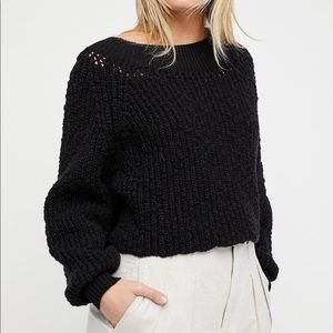 Free People chunky boatneck sweater